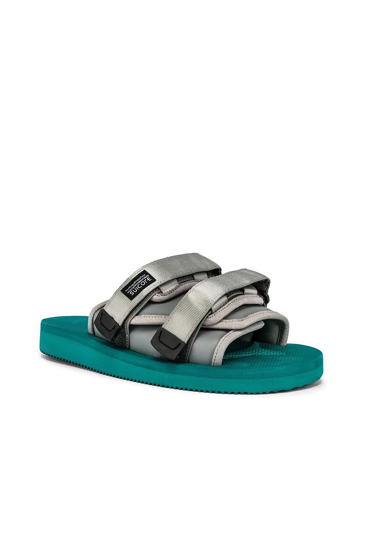 JOHN ELLIOTT x Suicoke Sandal in Teal & Silver