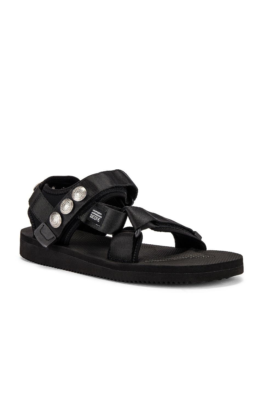 JOHN ELLIOTT x Blackmeans x Suicoke Lotus Sandal in Black