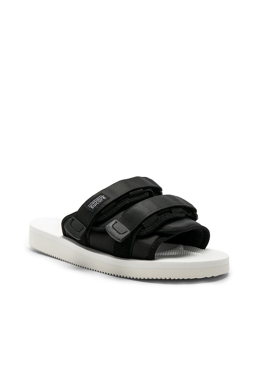 JOHN ELLIOTT x Suicoke Sandals in White & Black