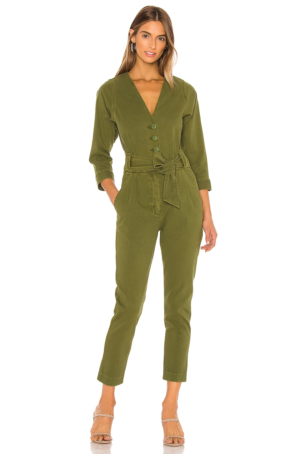 Joie Sashan Jumpsuit in Chive