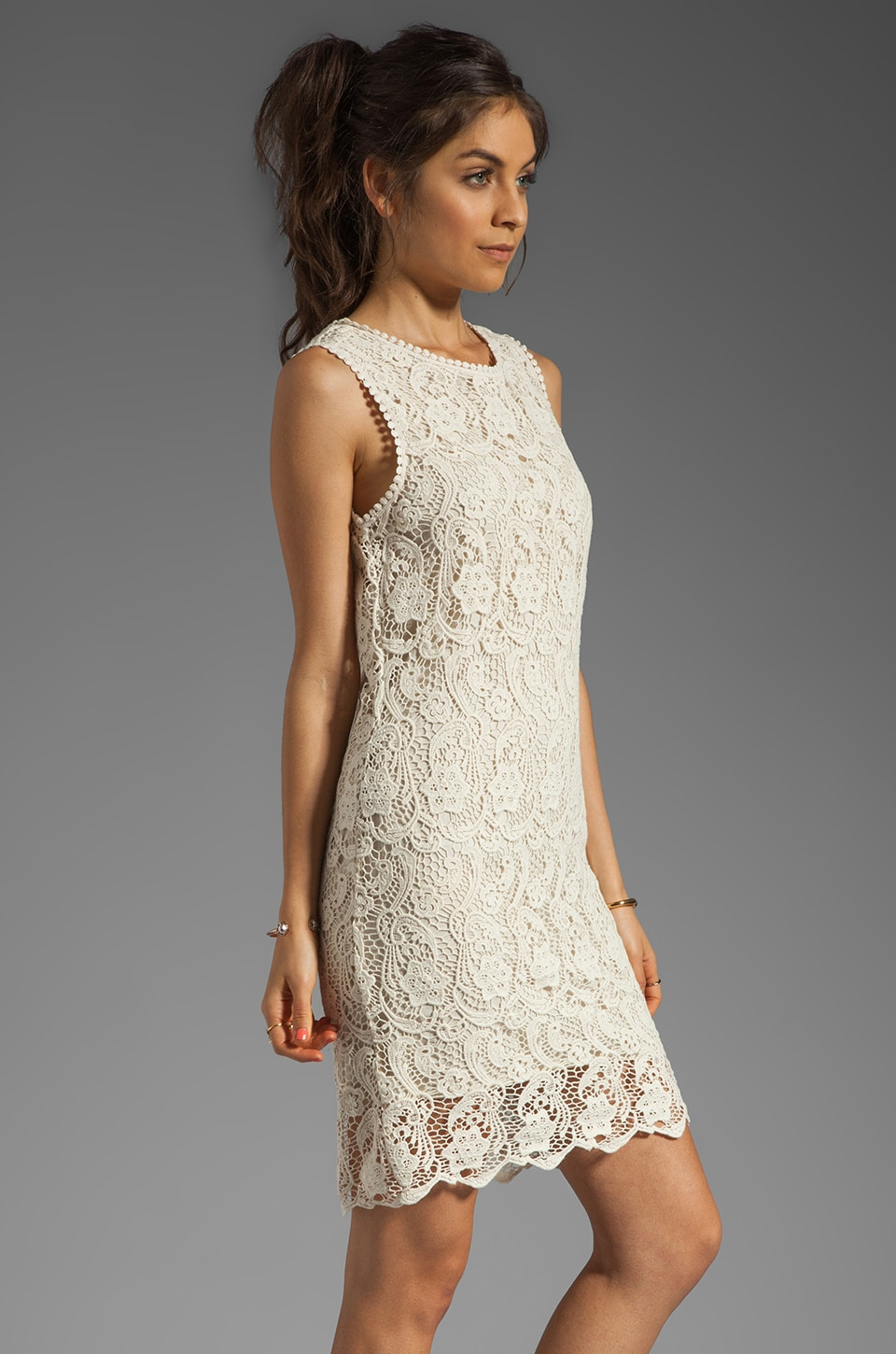 Joie Vionne Crochet Lace Dress in Off White | REVOLVE