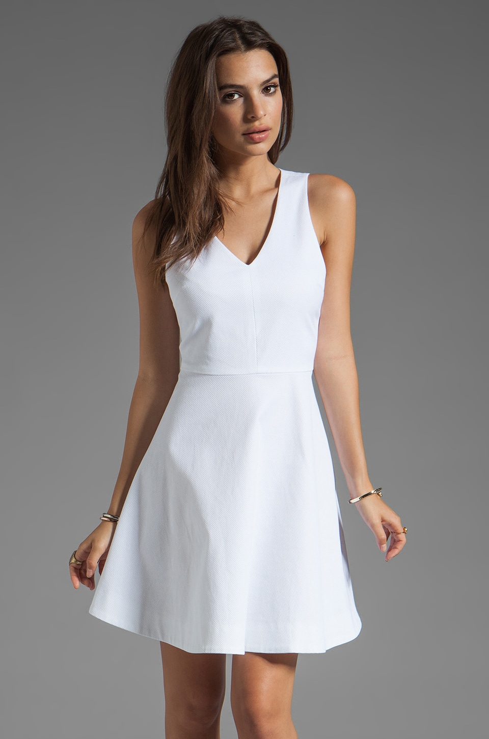 Joie Norton Dress in Porcelain