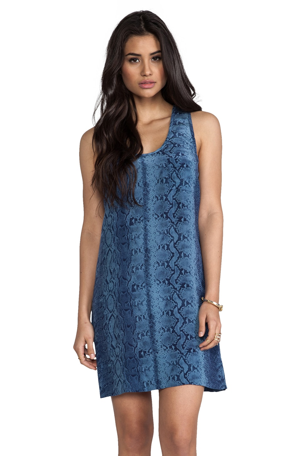 Joie Peri B Snake Printed Dress in Dark Navy