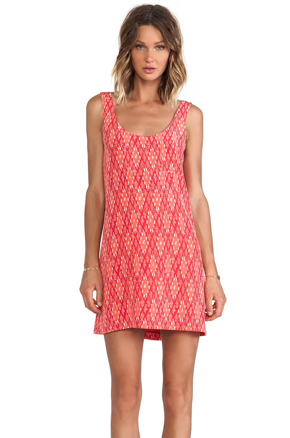 Joie Dawna Ikat Tank Dress in Spiced Coral