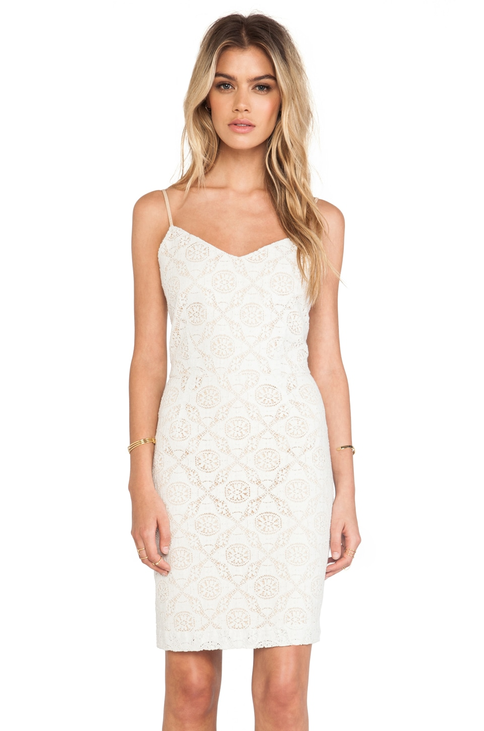 Joie Orchard B Crocheted Dress in Off White
