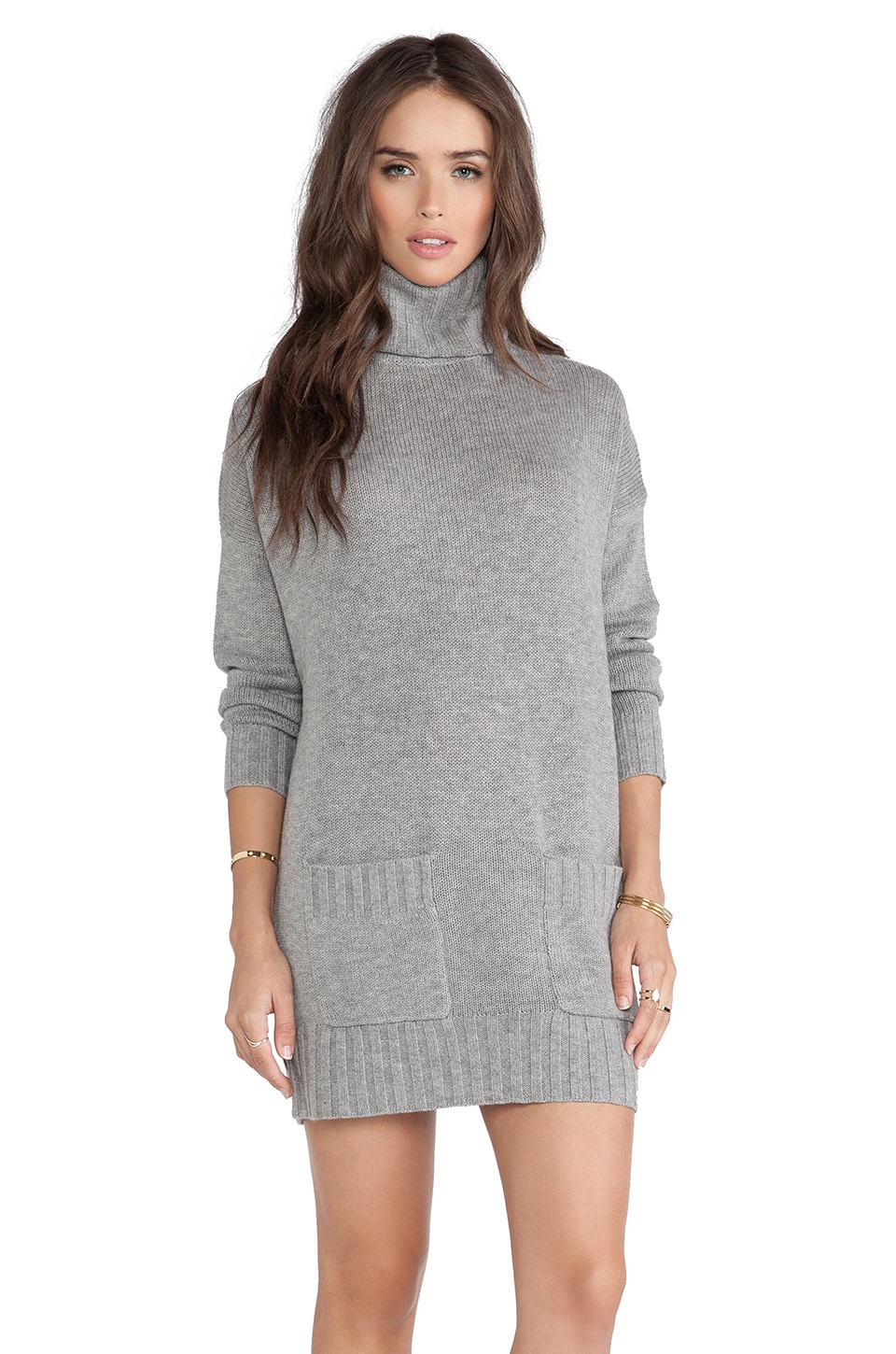 Joie Shera B Sweater Dress in Heather Grey