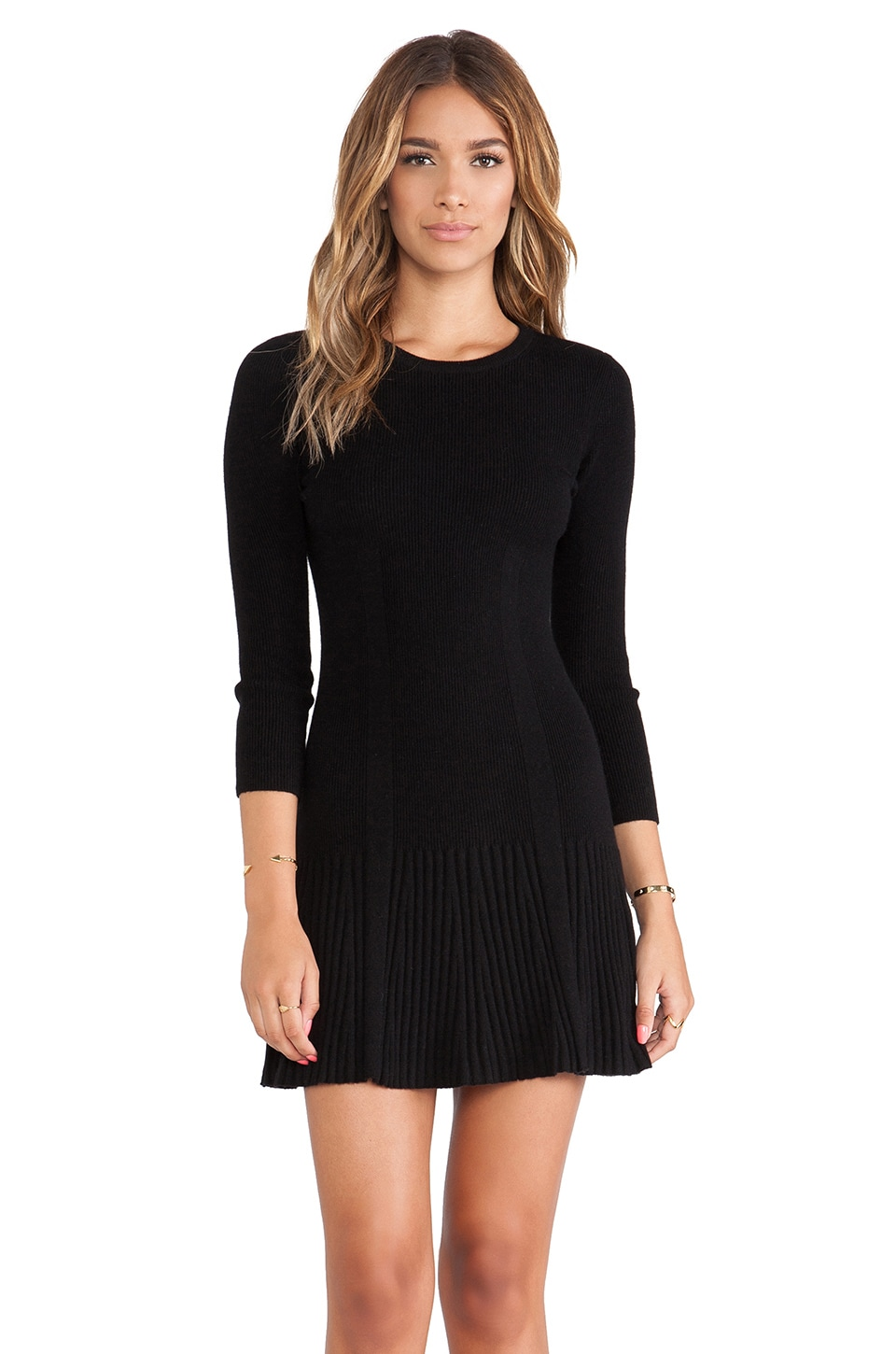 Joie Jolia Sweater Dress in Dark Black