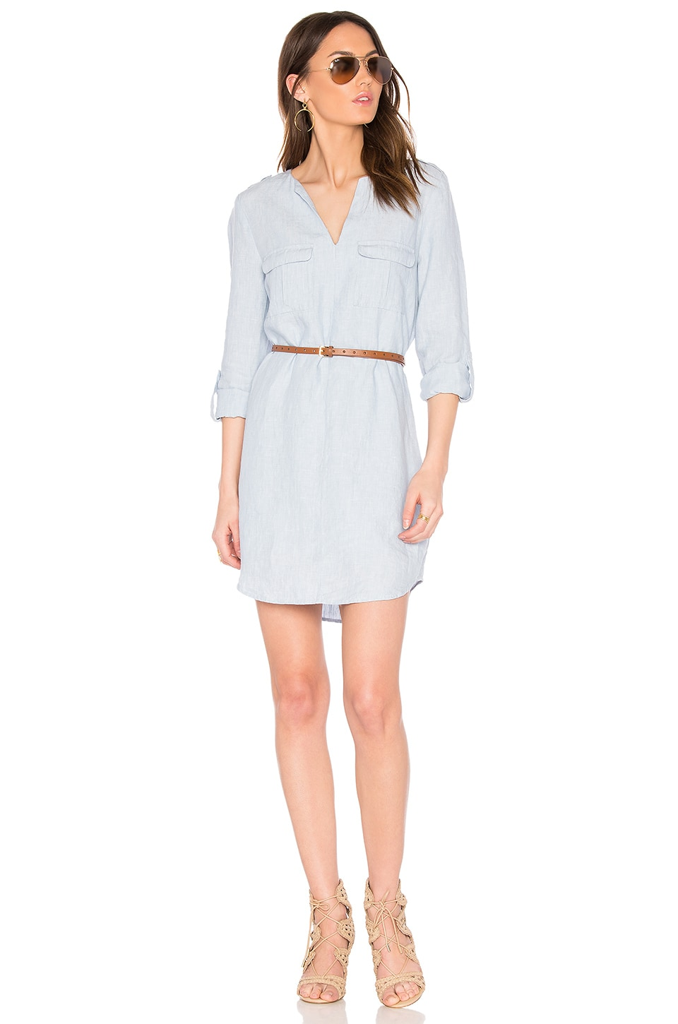 Joie Rathana C Dress in Light Washed Chambray