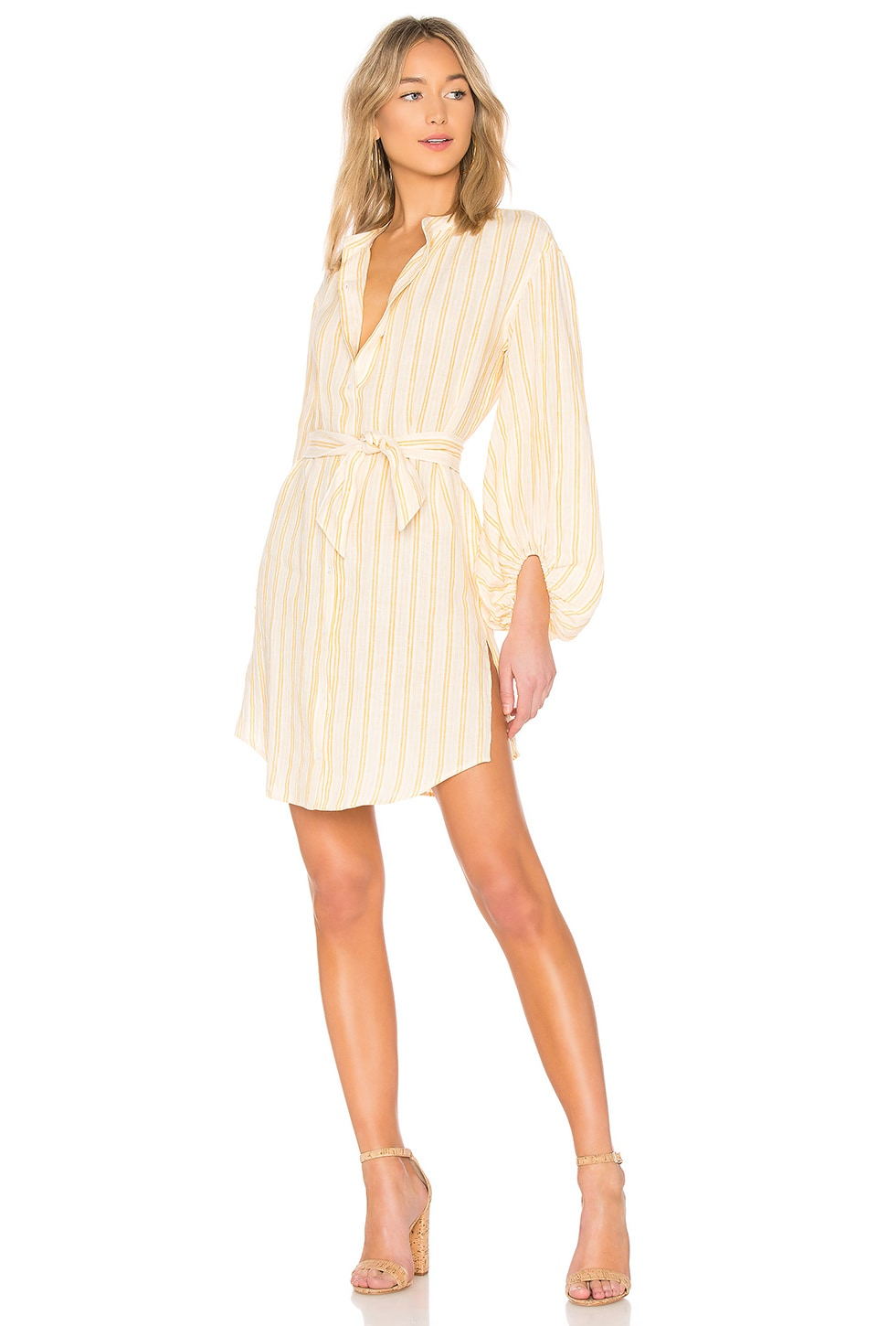 Beatrissa Shirt Dress in Yellow. - size S (also in L,M,XS,XXS) Joie