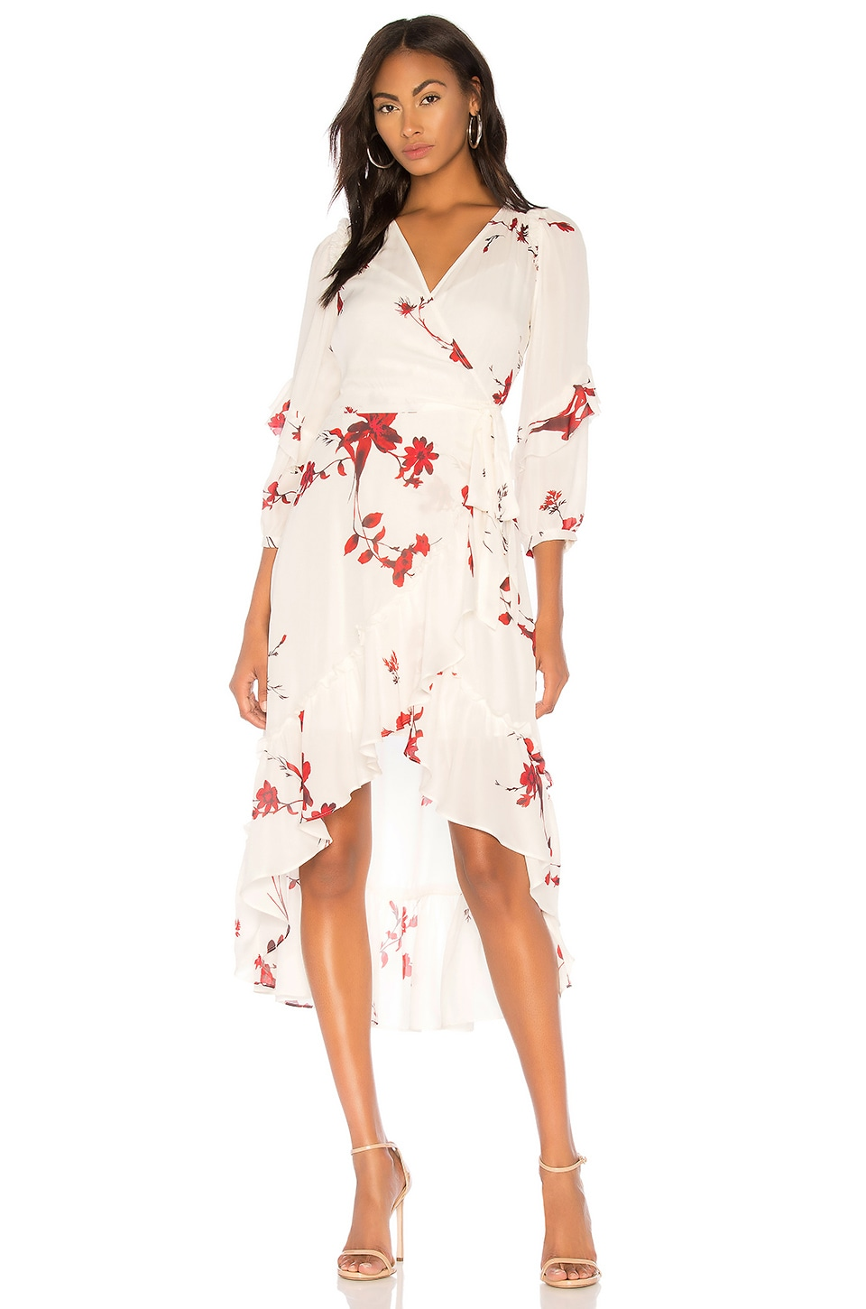 Joie Anawrette Wrap Dress in Porcelain