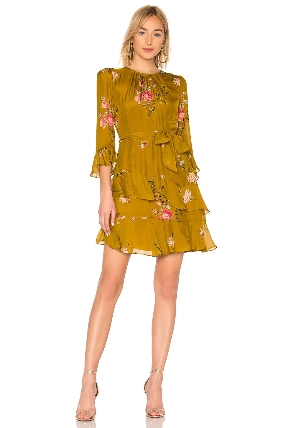 Joie Kayane Dress in Goldenrod