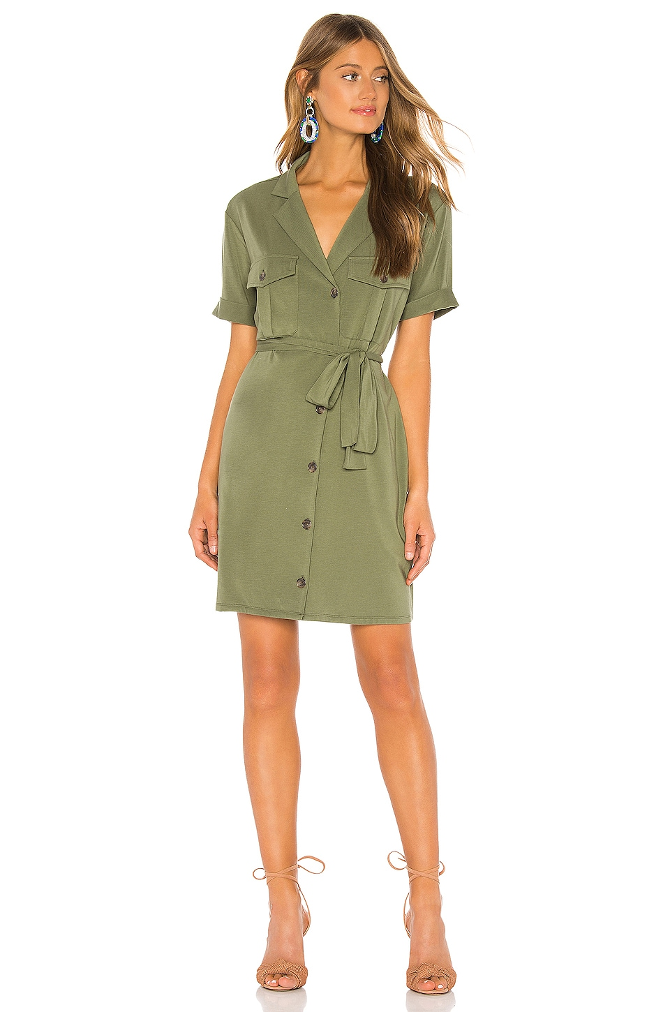 Joie Jadallah Shirt Dress in Canopy