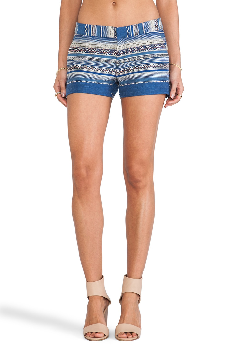 Joie Merci Ethnic Multistripe Shorts in Deep Lapis