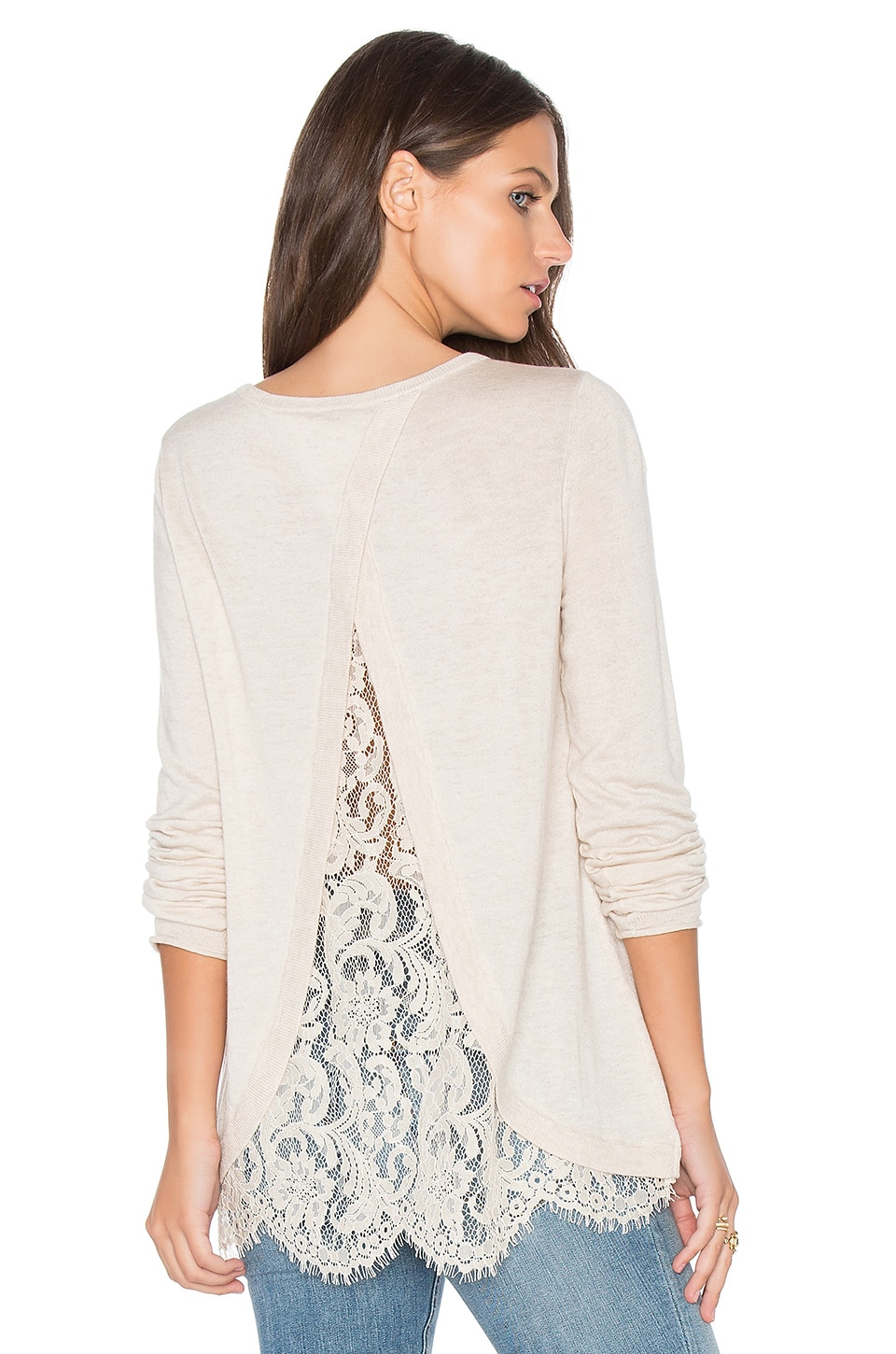 Joie Marianna Sweater in Heather Antique White