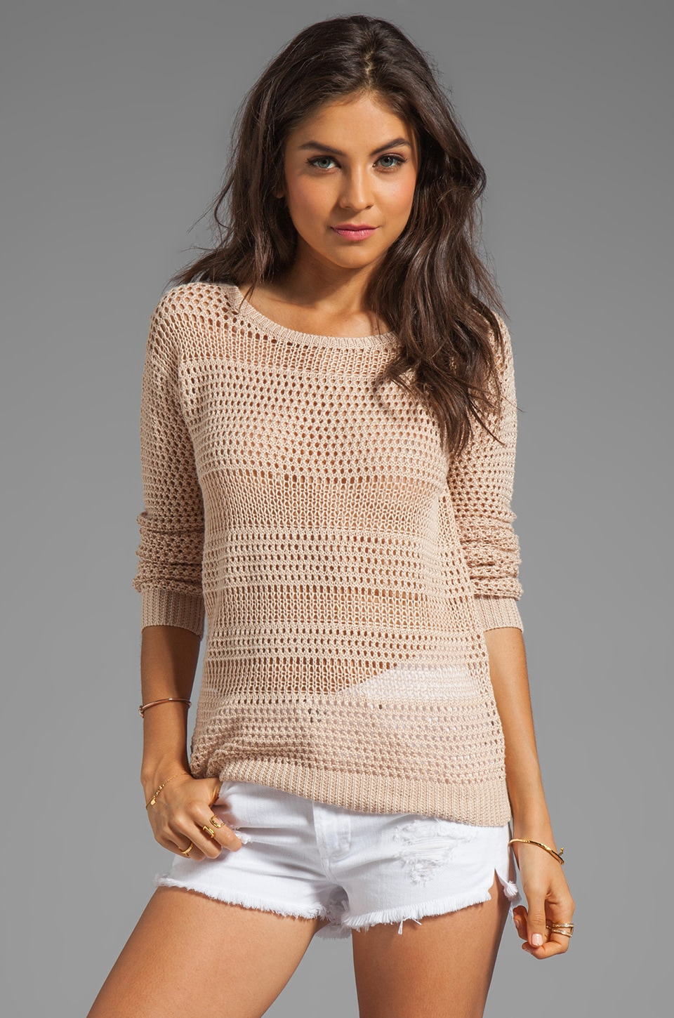 Joie Resi Sweater in Dusty Pink Sand