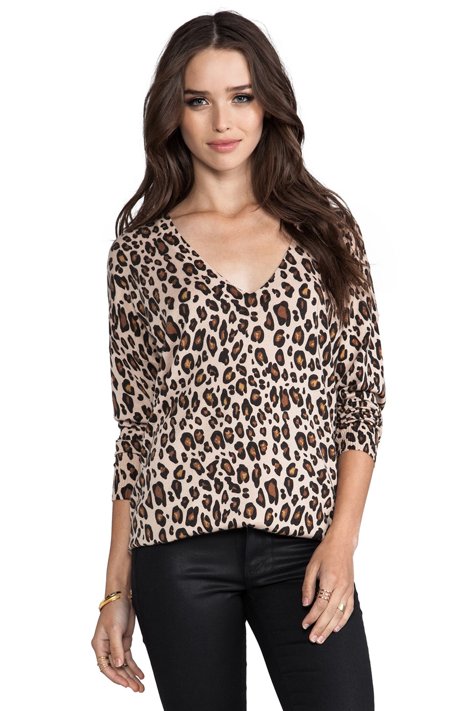 Joie Bold Leopard Print Chyanne Sweater in Leopard Tan