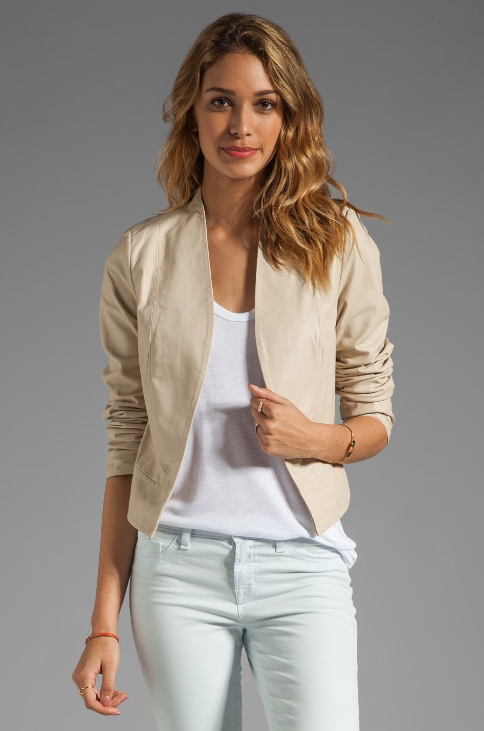 Joie Venette Regal Leather Jacket in Natural
