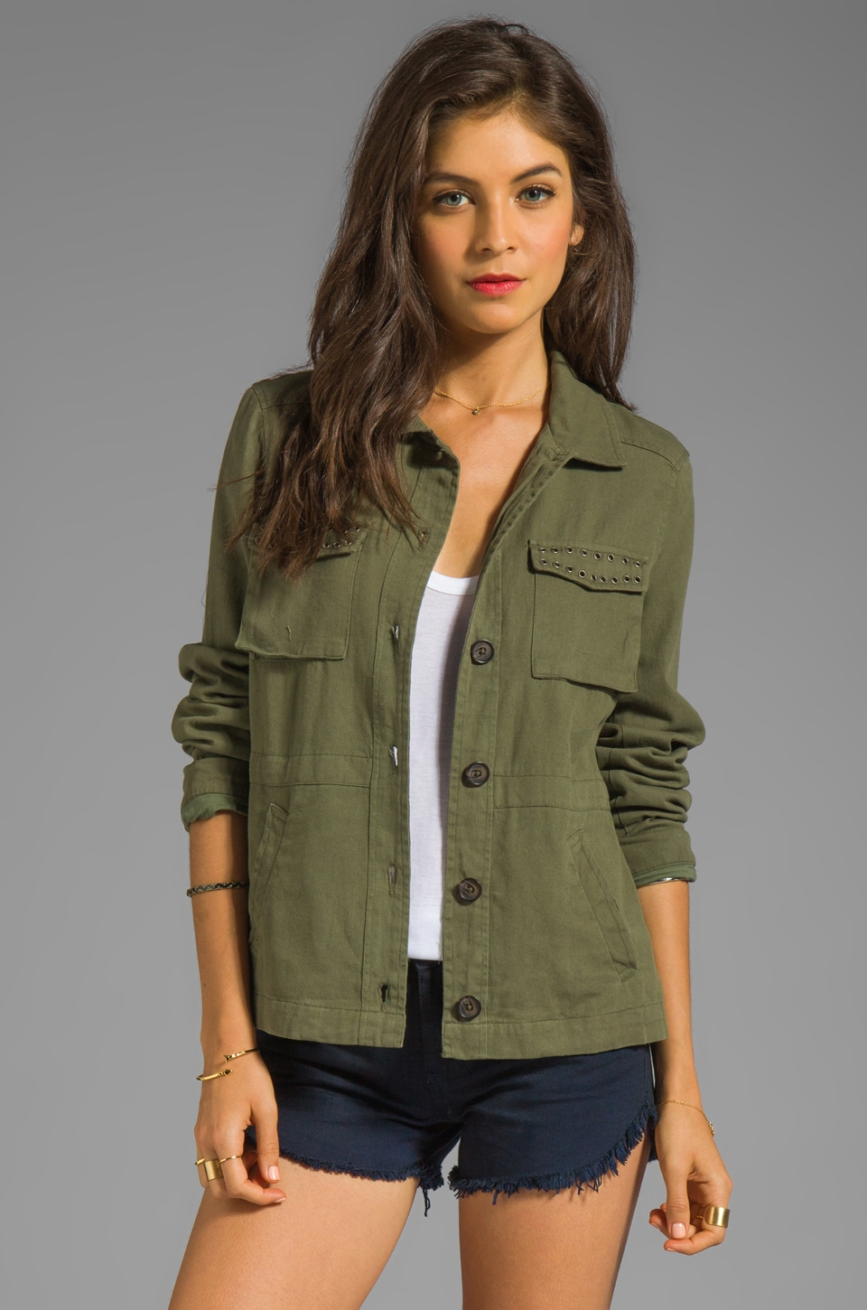 Joie Jatara Twill Jacket in New Army