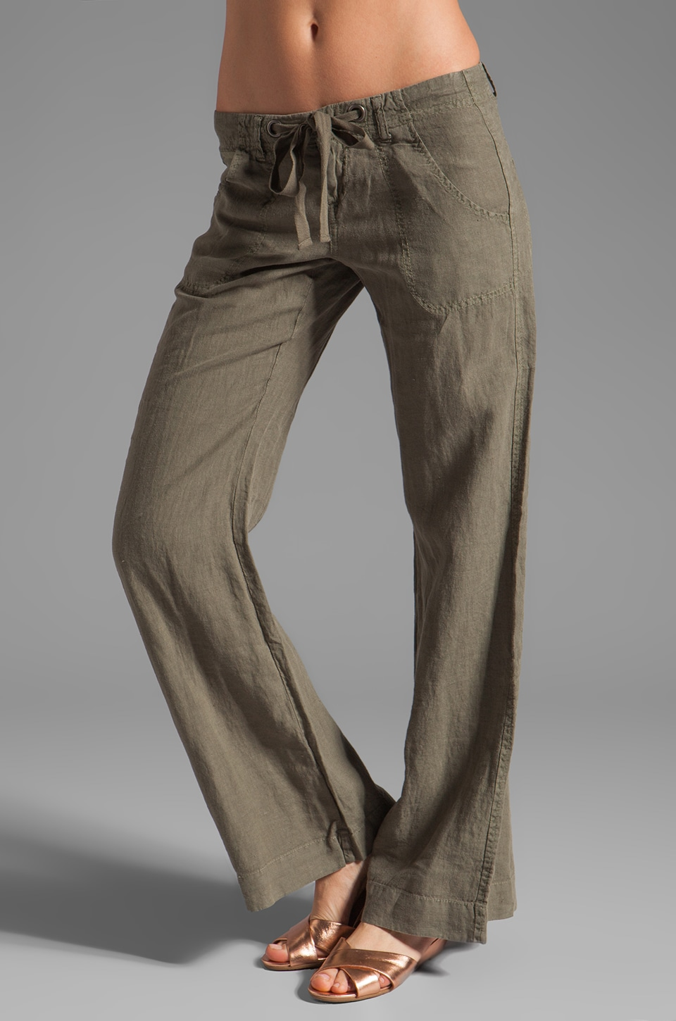 Joie Irreplaceable Linen Pant in New Army