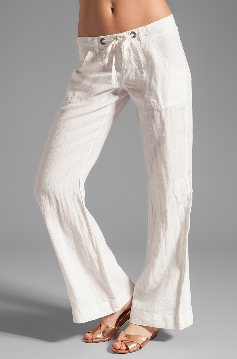 Joie Irreplaceable Linen Pant in Porcelain