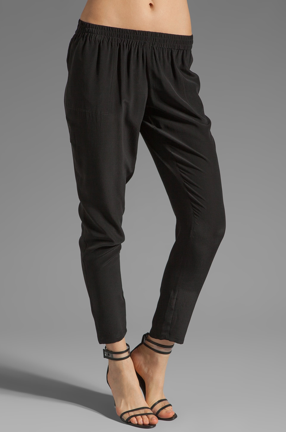 Joie Julietta Silk Pants in Caviar