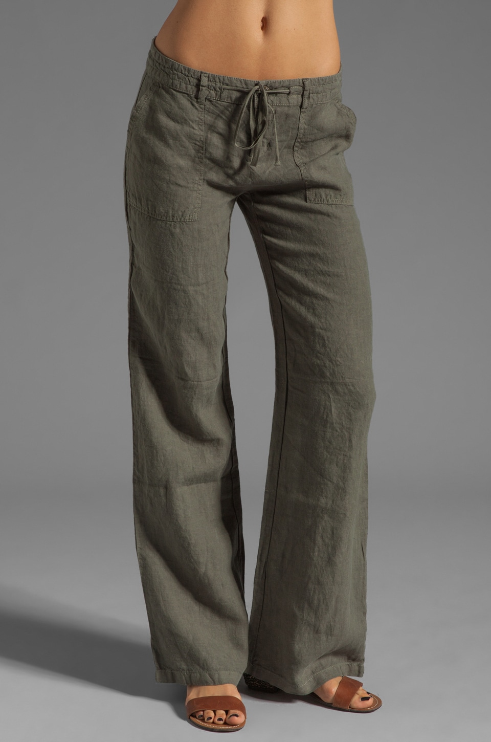 Joie Maretta Linen Pants in Fatigue