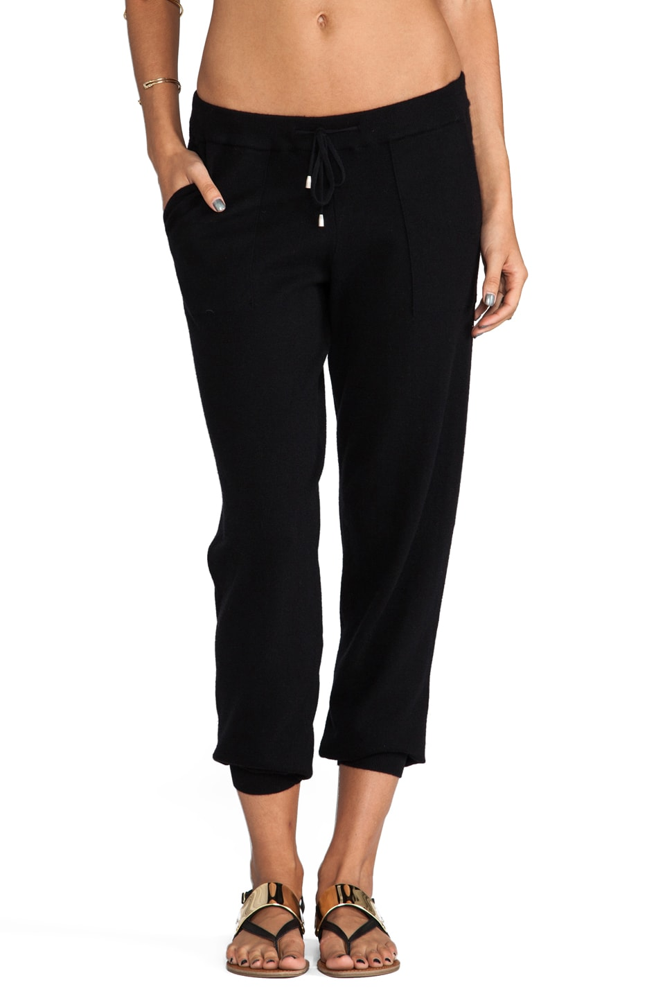 Joie Solid Valora Pant in Caviar
