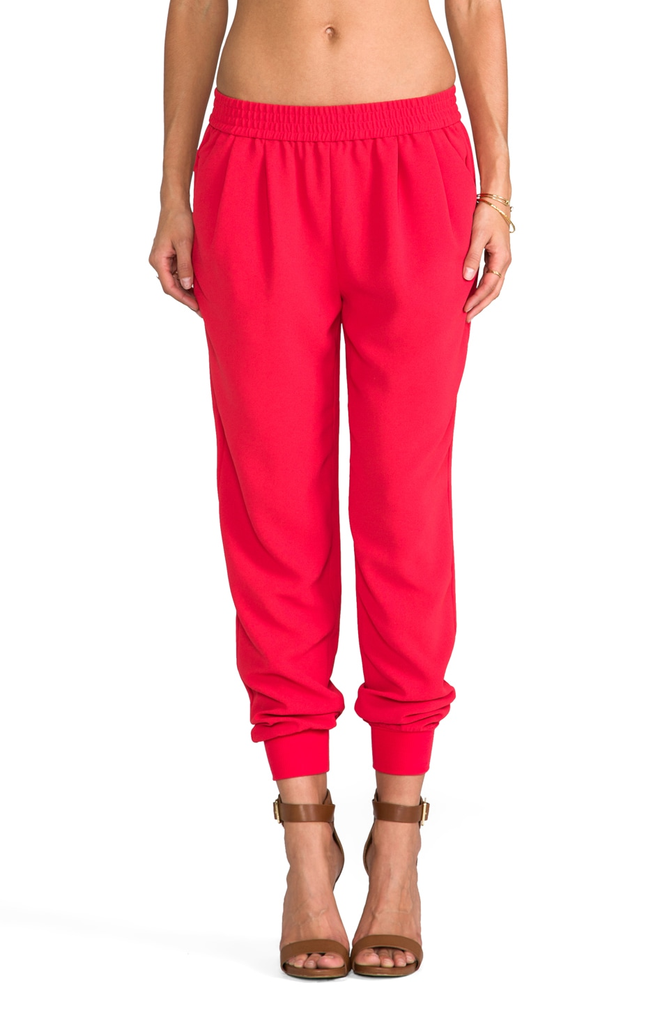 Joie Mariner Pants in Carnelian