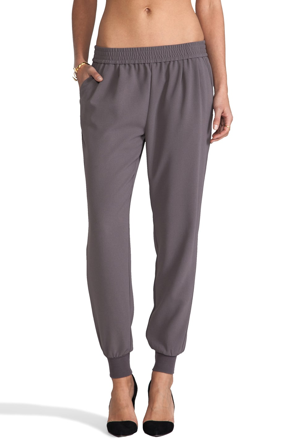 Joie Mariner Crepe Pant in Steel