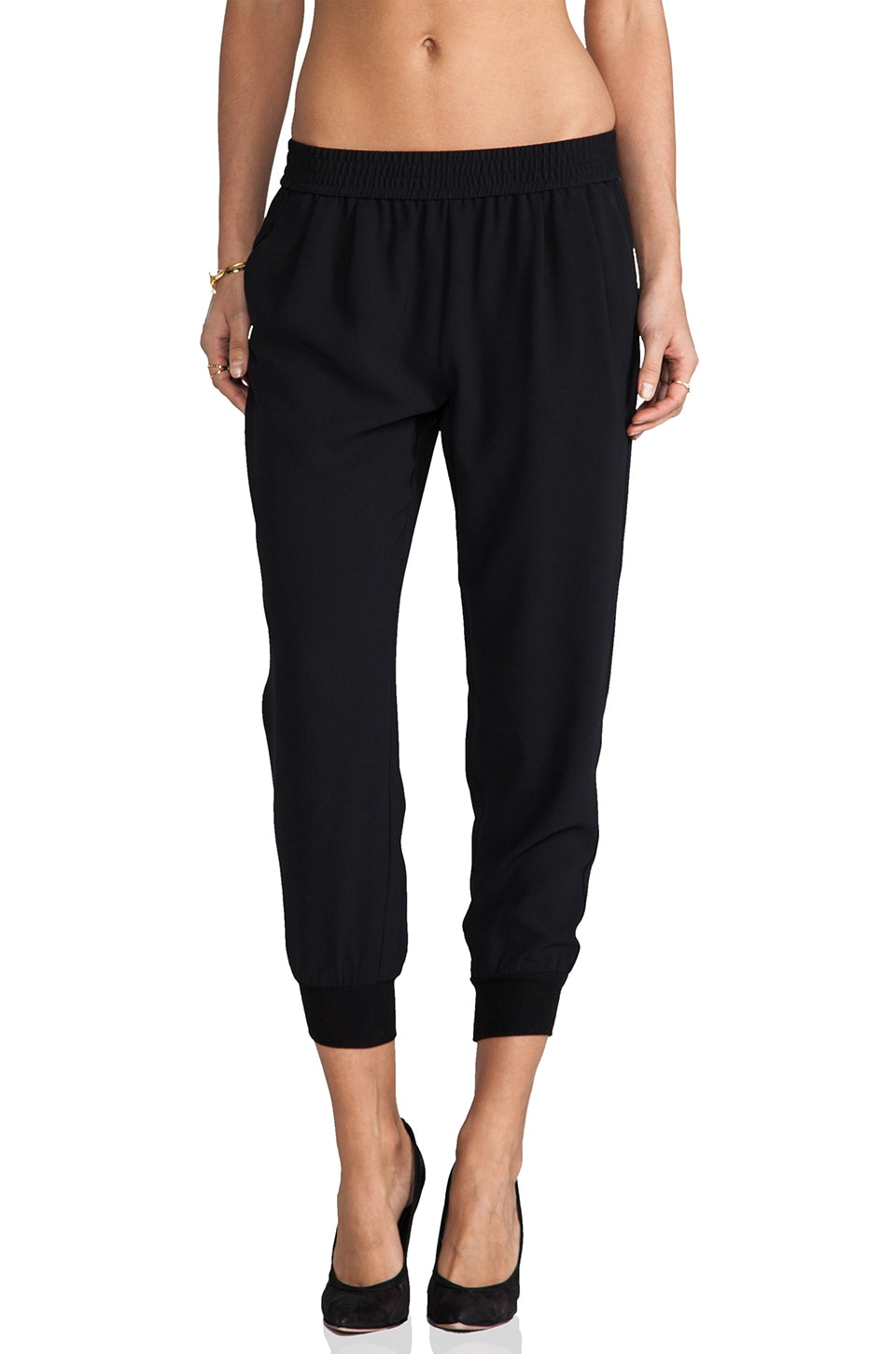 Joie Mariner Cropped Pant in Black