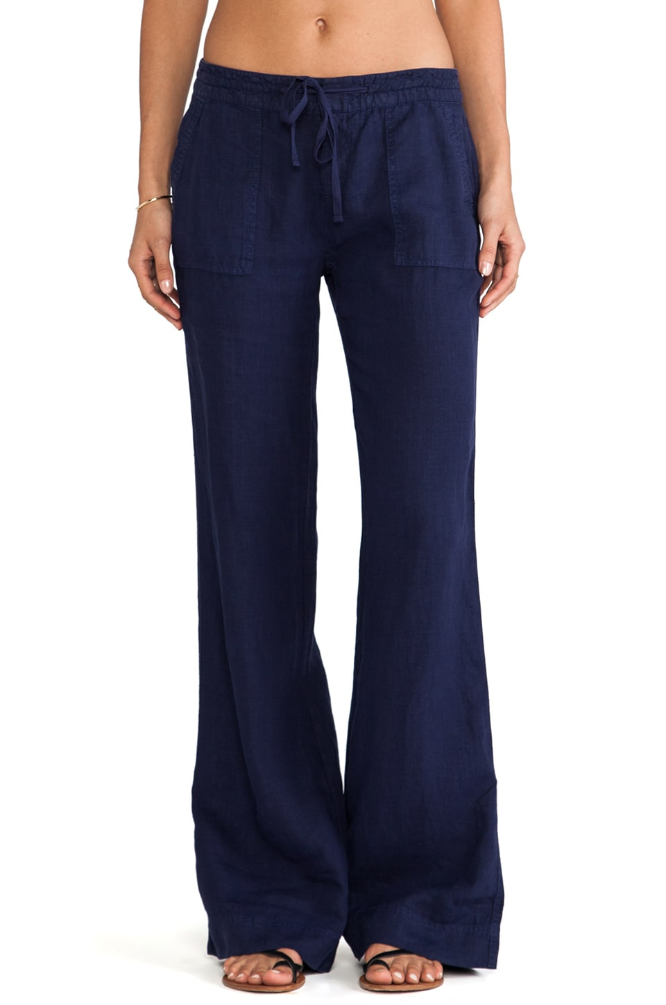 Joie Javina Wide Leg Pant in Dark Navy