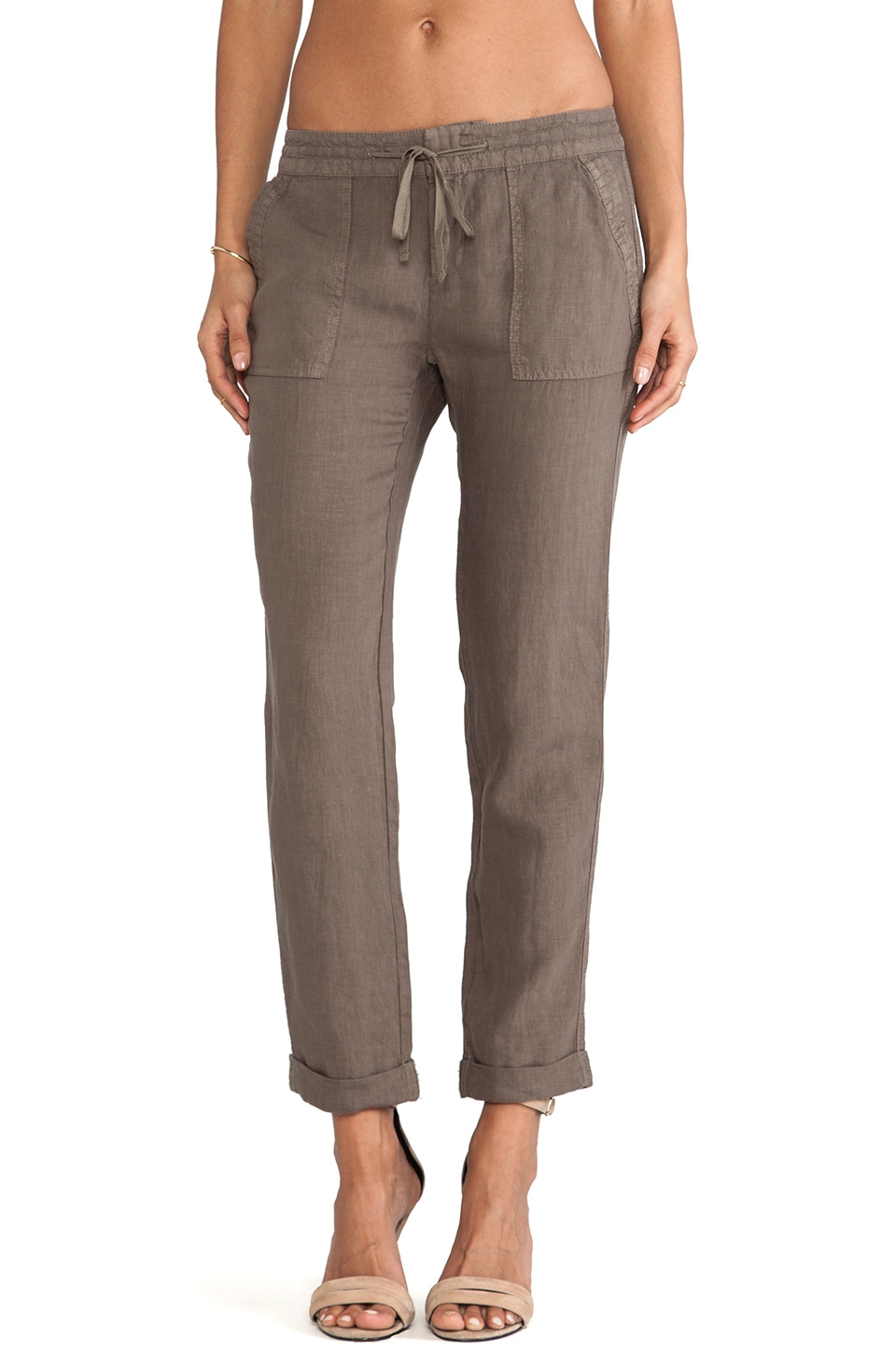Joie Martesha Linen Pant in Fatigue