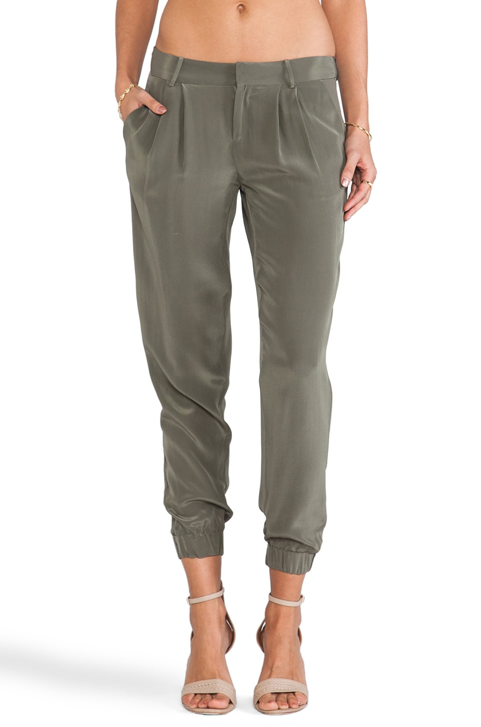 Joie Lidora Sandwashed Pants in Fatigue