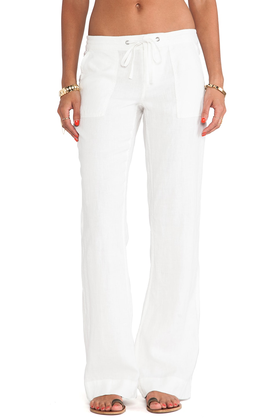 Joie Skylera Wide Leg Pants in Porcelain