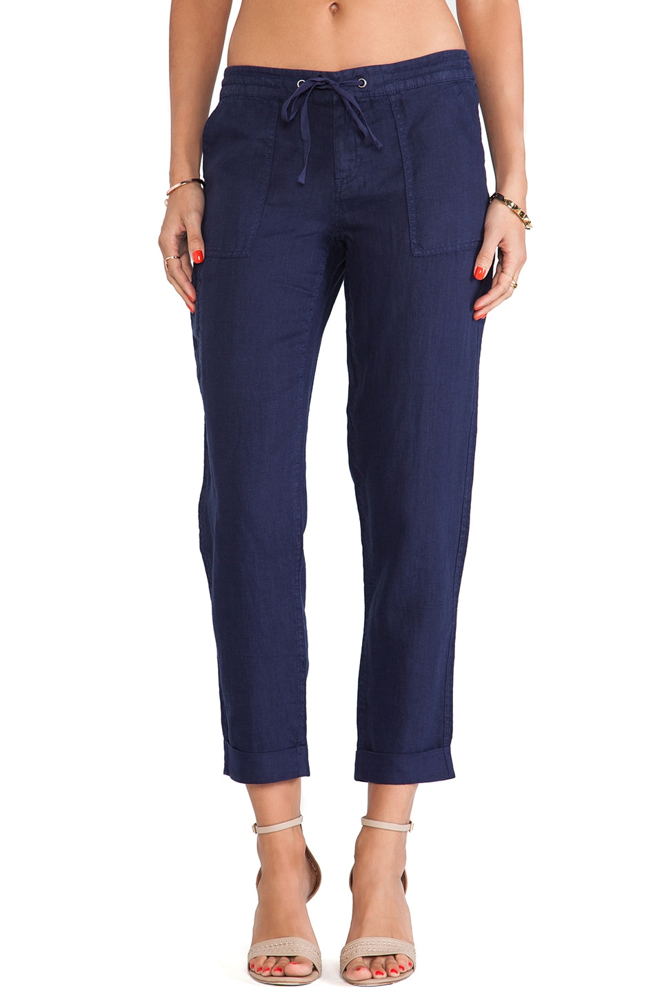 Joie Alaine Straight Leg Pants in Dark Navy