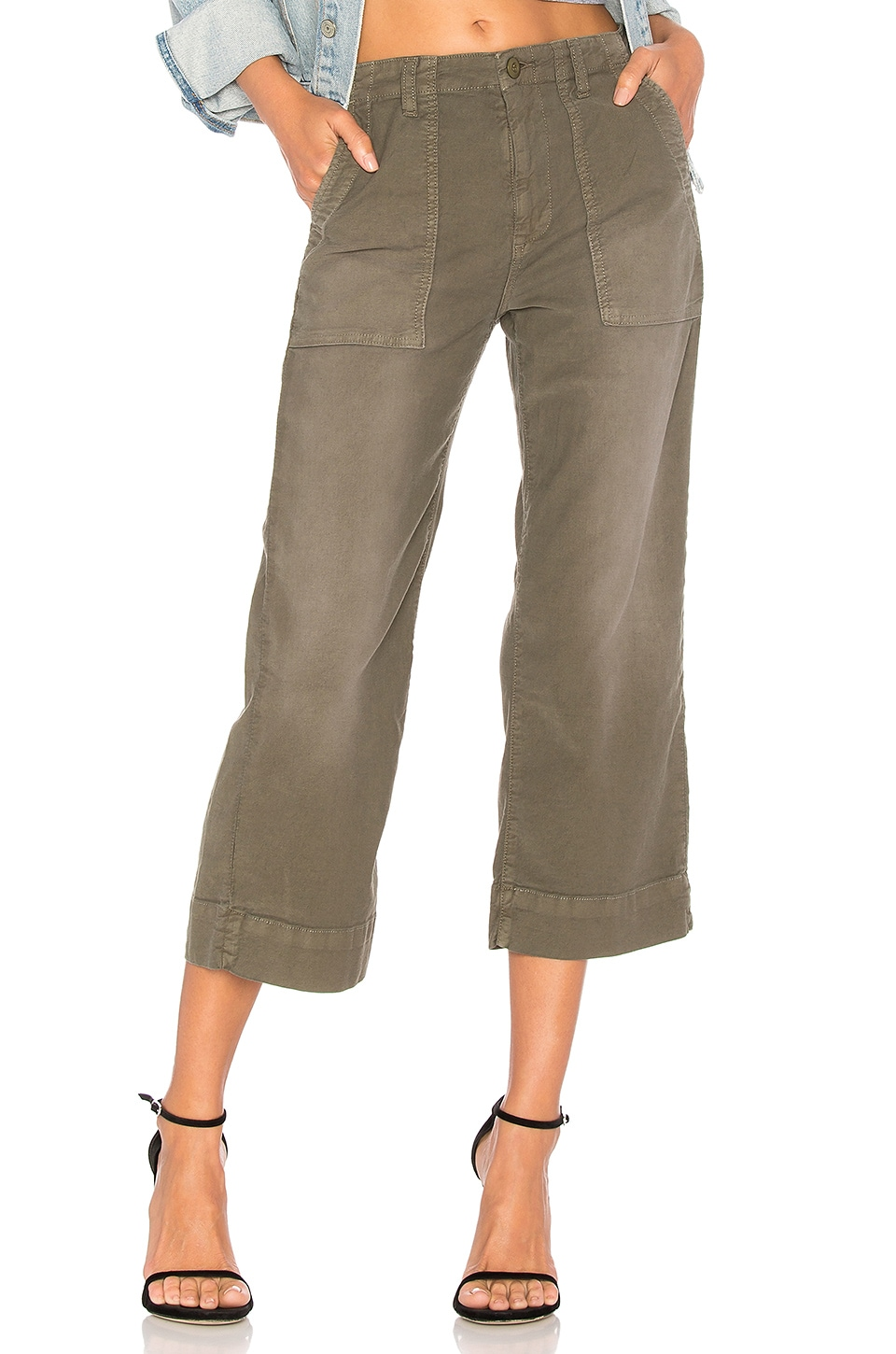 Joie Painter Straight Crop in Washed Deep Fatigue