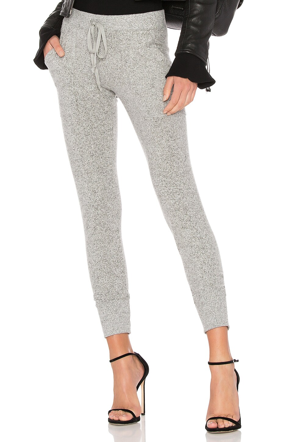 Joie Tendra Knit Pant in Heather Grey