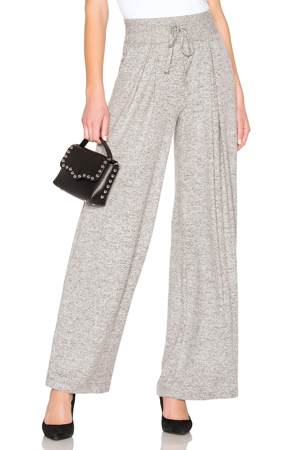 Joie Adhyra Wide Leg Pant in Heather Grey