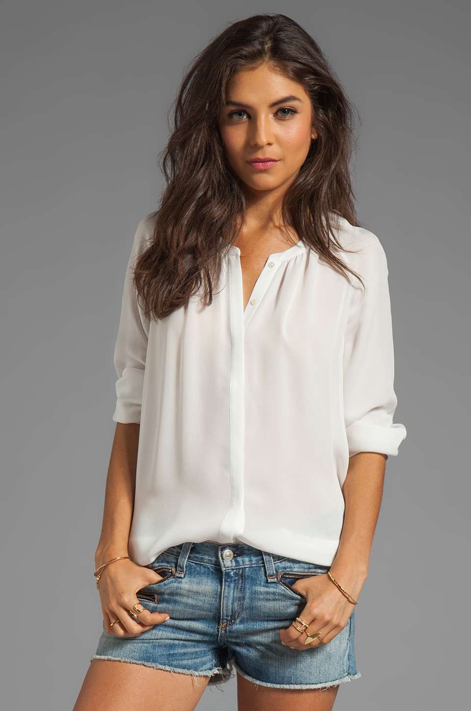Joie Kade Blouse in Porcelain