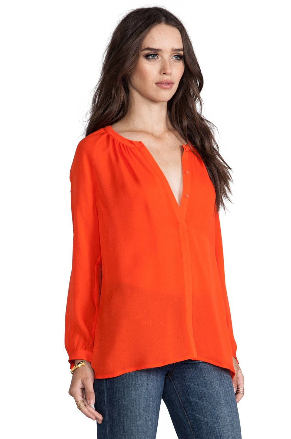 Joie Kade Blouse in Spicy Orange