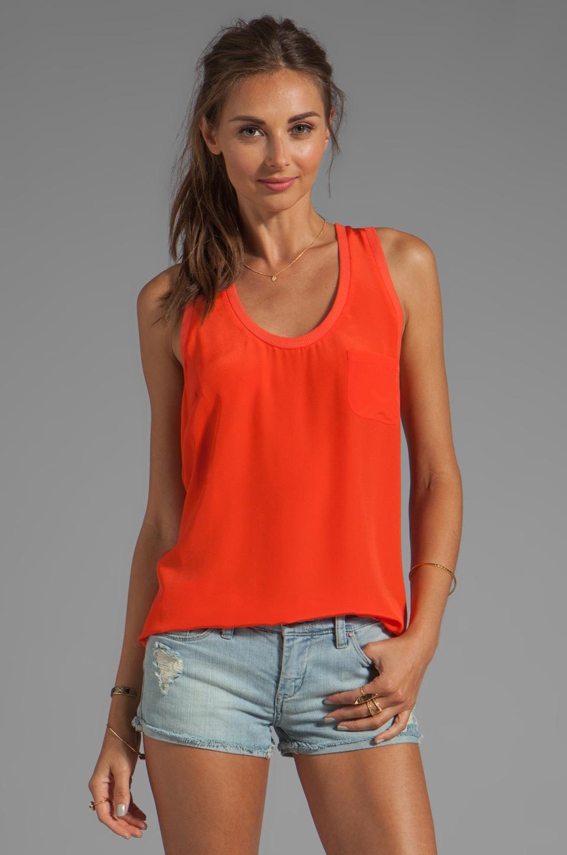 Joie Alicia Silk Tank in Spicy Orange