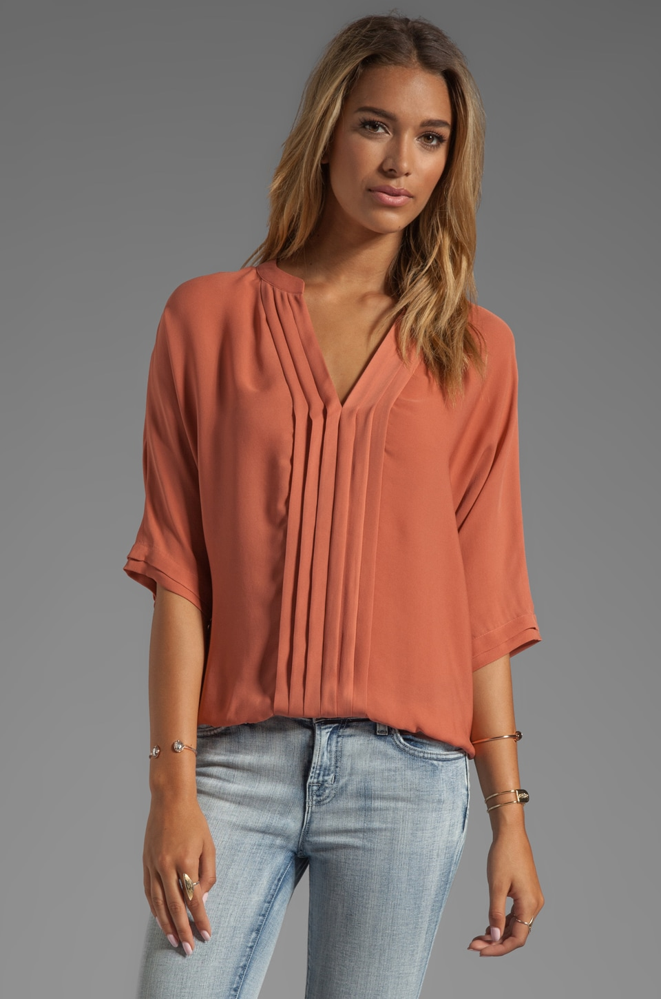 Joie Matte Silk Marru Top in Clay