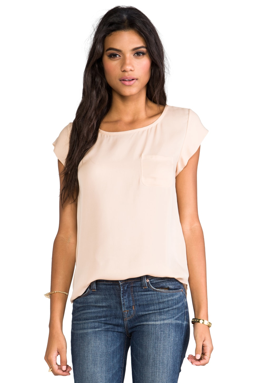 Joie Rancher Top in Dusty Pink Sand
