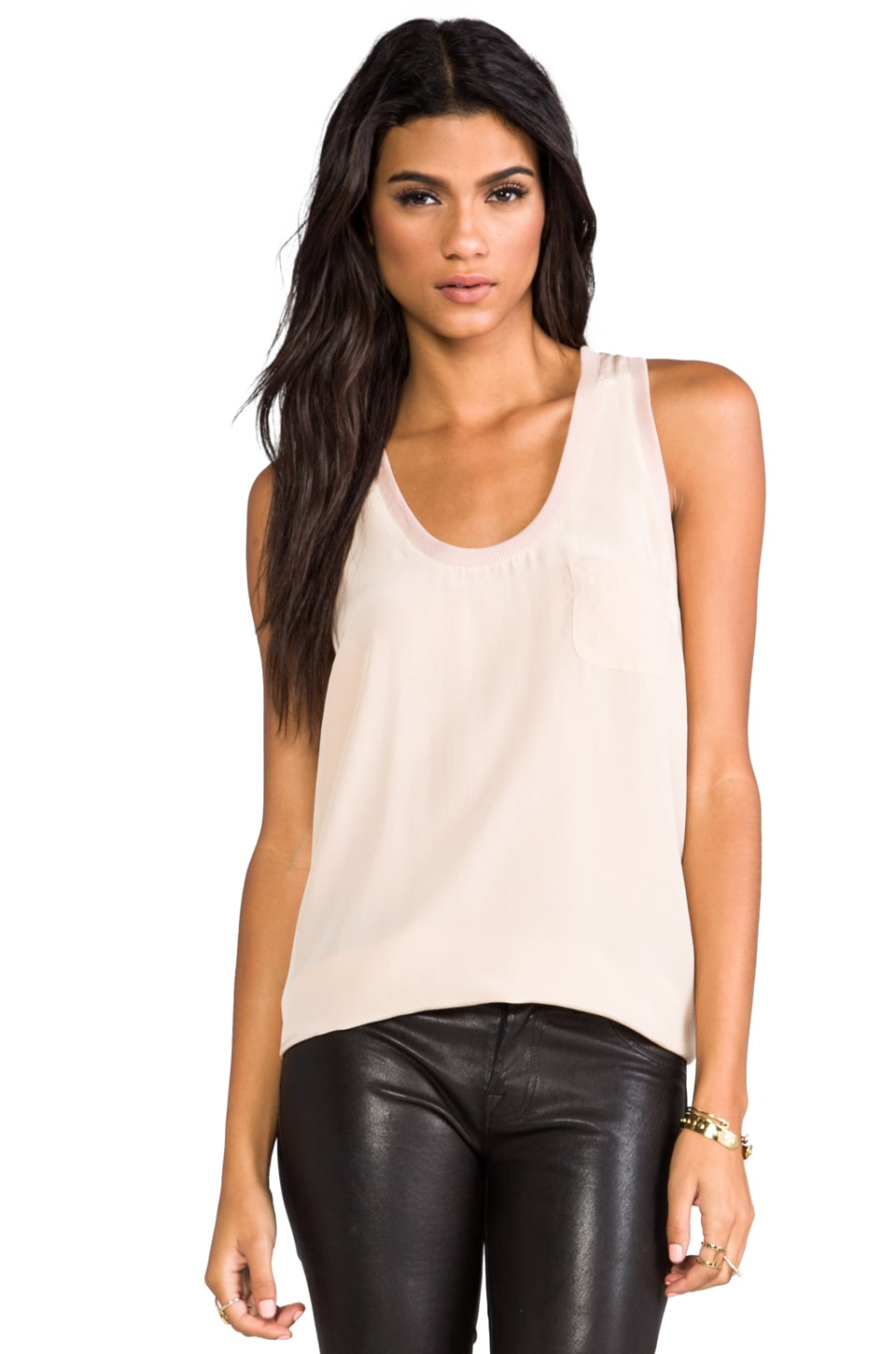 Joie Alicia Tank in Dusty Pink Sand