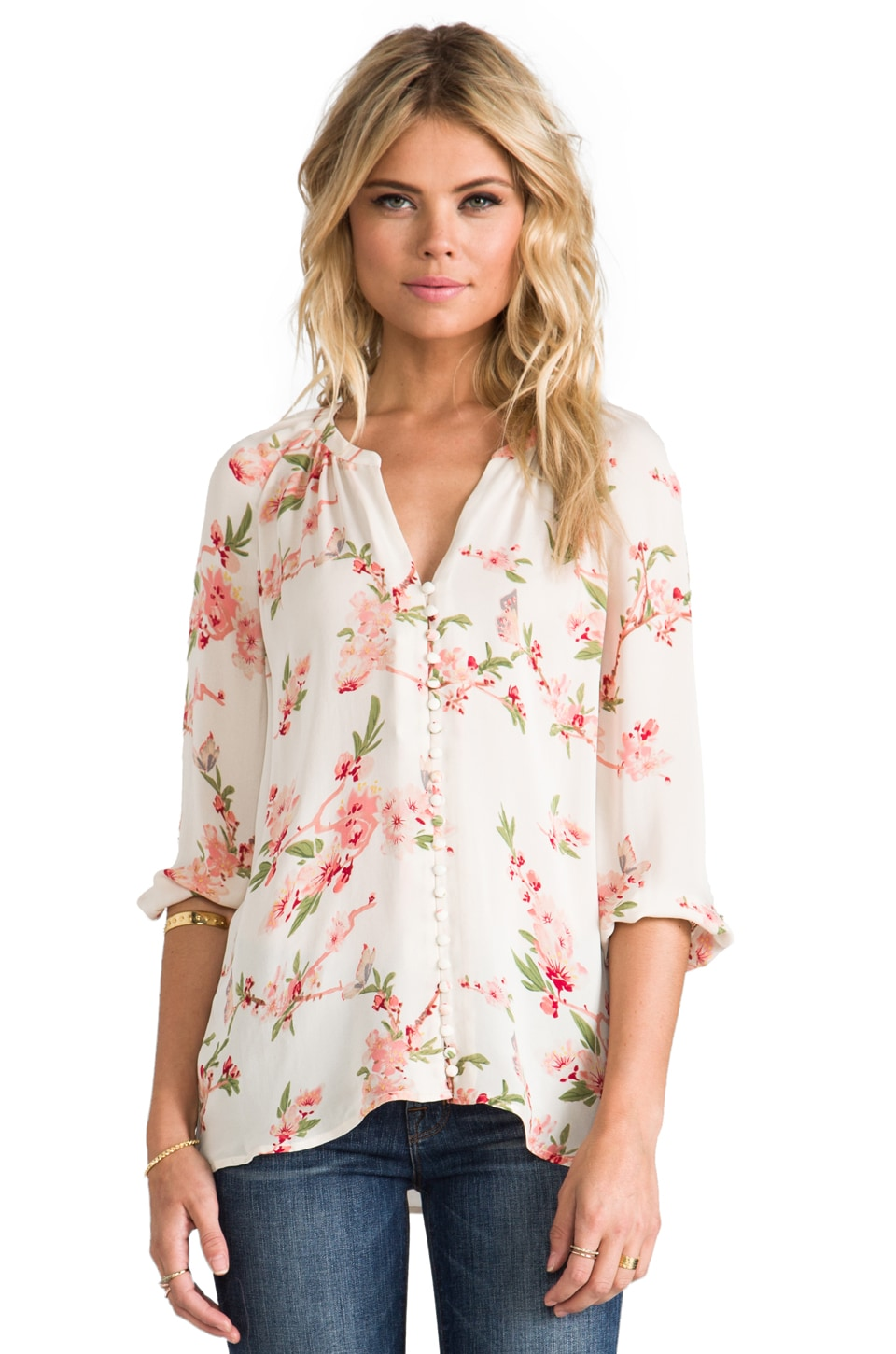Joie Kade b Blouse in Cherry Blossom