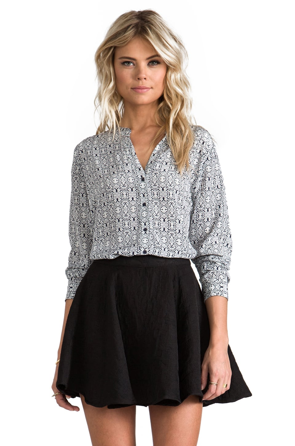 Joie Nataline Blouse in Dark Navy