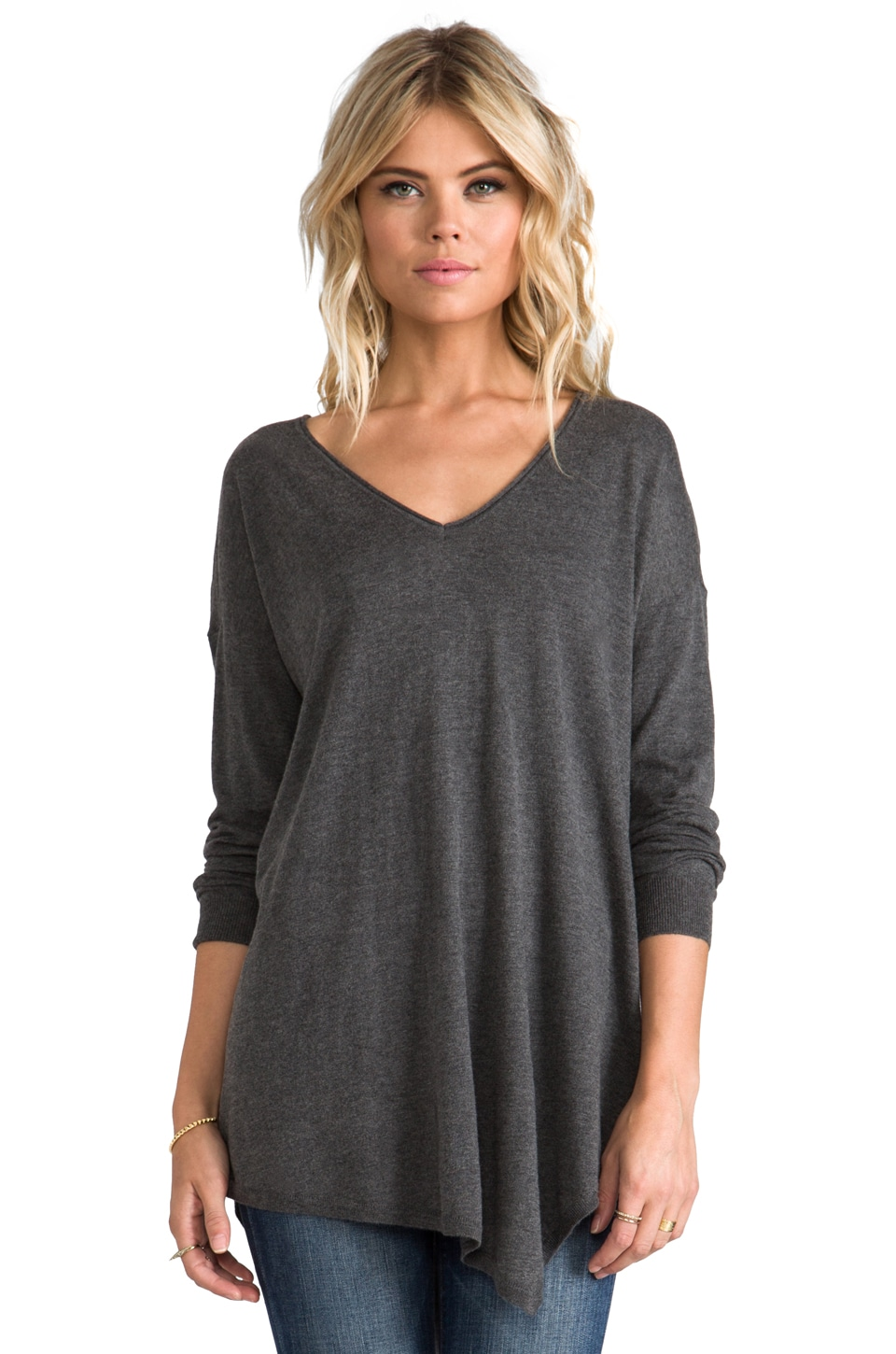 Joie Armelio Sweater in Dark Heather Grey