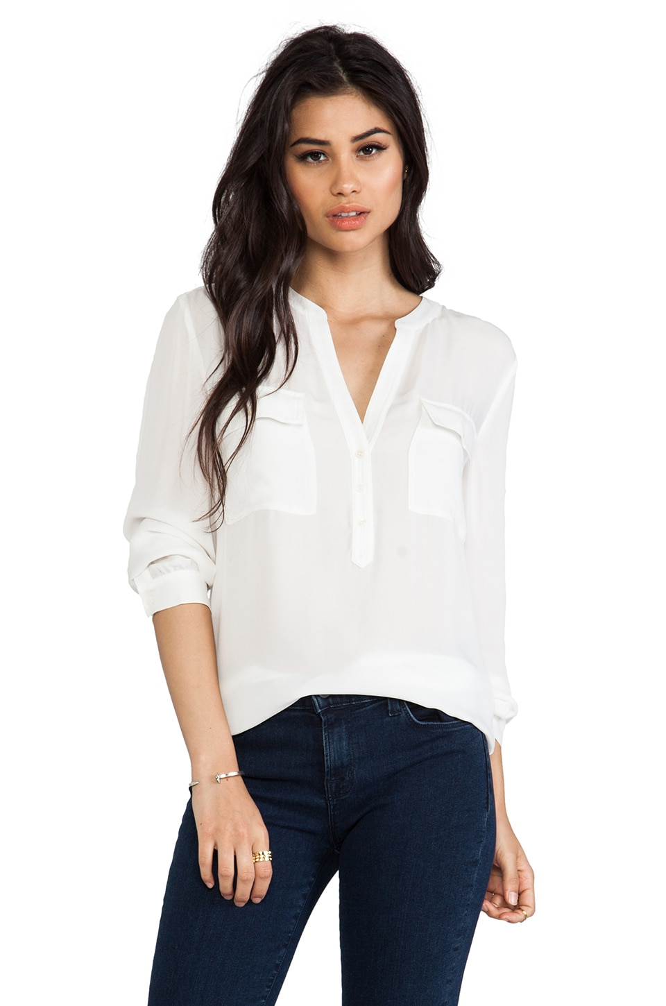 Joie Pauline Blouse in Porcelain