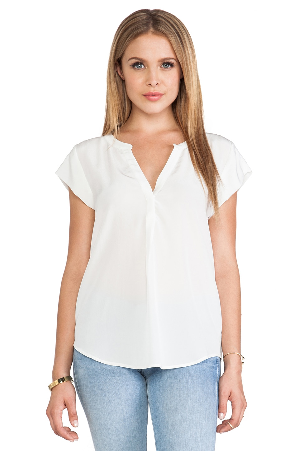 Joie Selenite Blouse in Porcelain