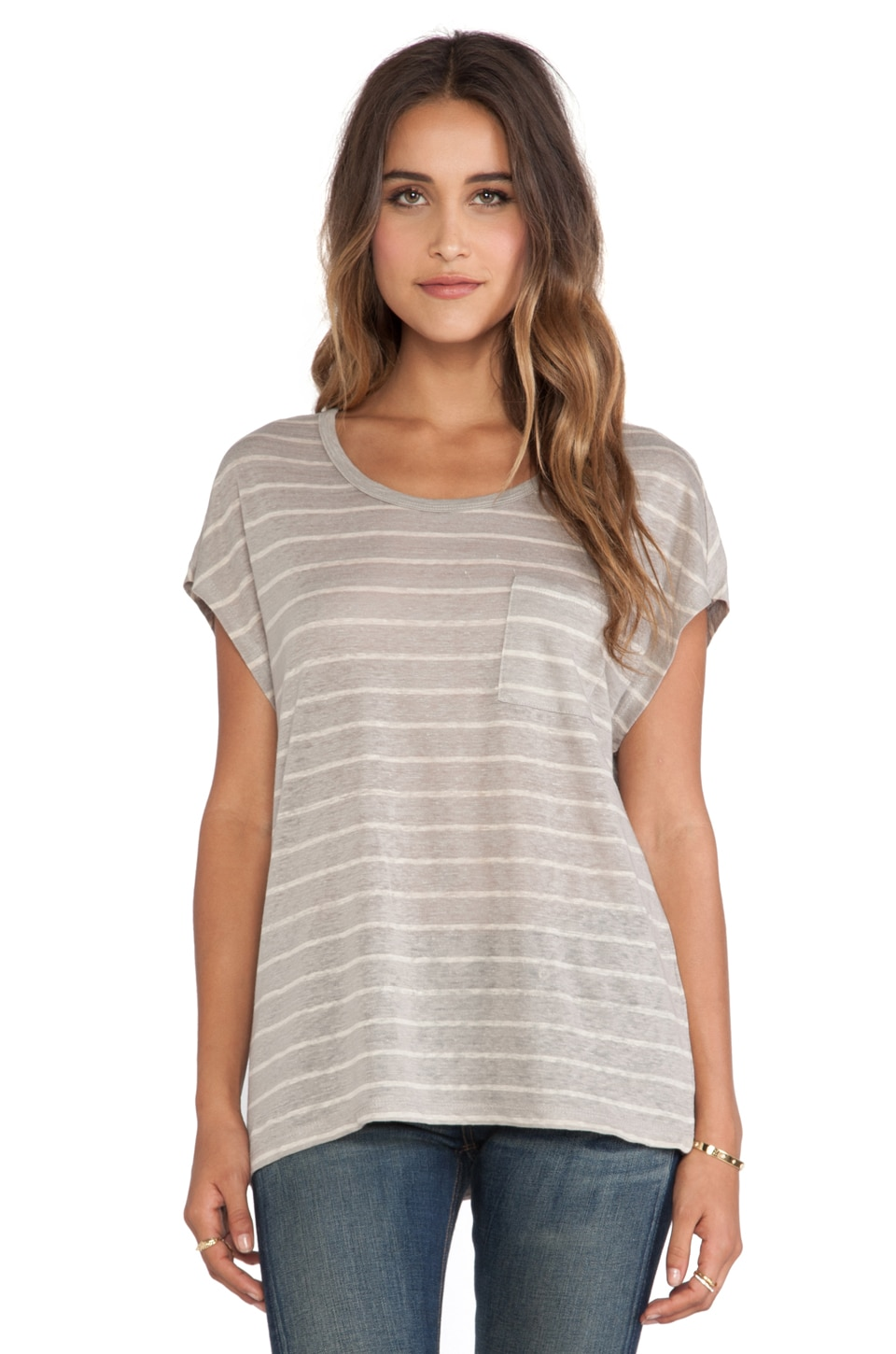 Joie Hanby Tee in Marble & Oatmeal Heather